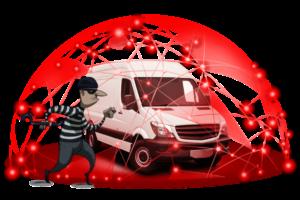 varebil med tyv